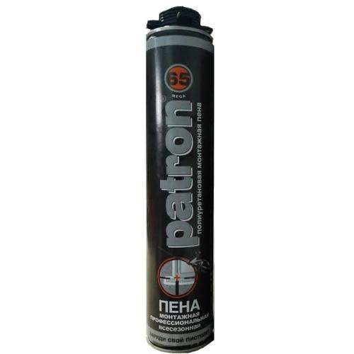 NEW! Пена профессиональная Patron 65L Pro 875 ml c низким расширением (всесезонная)