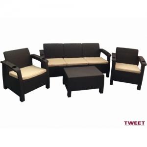 Наборы мебели с диванами и креслами комплект уличной мебели Tweet Triple Set
