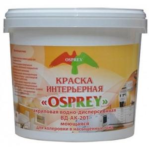 Краска интерьерная водно-дисперсионная влагостойкая «OSPREY» ВД-АК-201