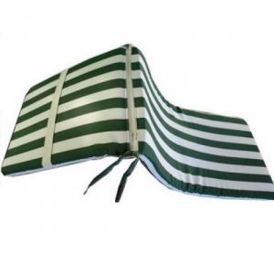 Матрас для шезлонгов 4 villa бело-зеленые полоски