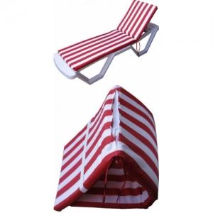 Матрас для шезлонгов 4 villa бело-красные полоски
